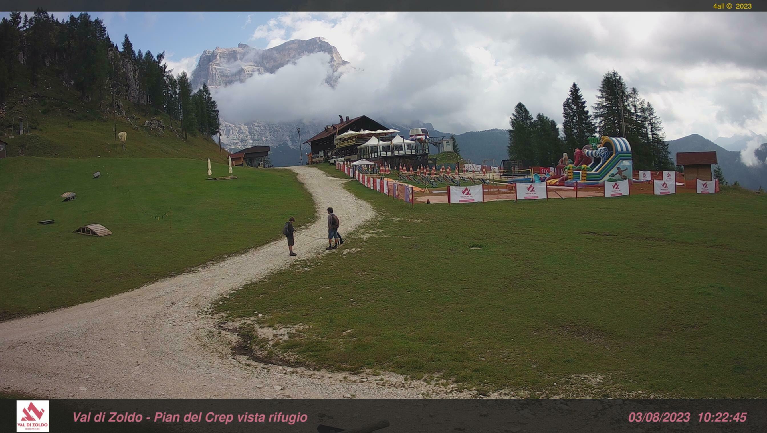 webcam pecol, val di zoldo piste da sci foppe, pista cristelin, cabinovia